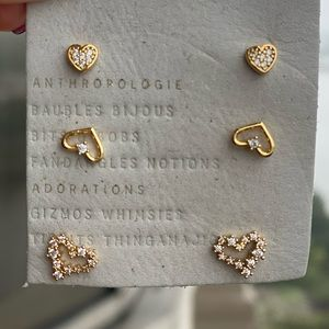 Anthropologie hearts Earring Set